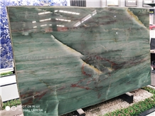 Botanic Bordeaux Emerald Green Quartzite Slab