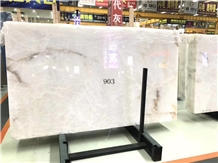 Thassos Crystal Wave Snow White Marble Slabs Tiles