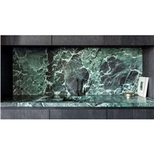 Prada Green Marble Kitchen Design