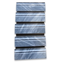 Bardiglio Gray 4x12 Baseboard Crown Molding