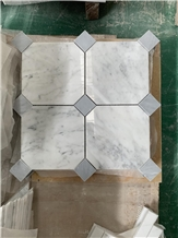 Bianco Carrara Marble Stone Polished Mosaic
