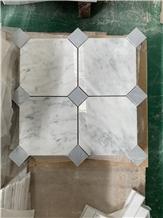 Bianco Carrara Marble Stone Polished Mosaic