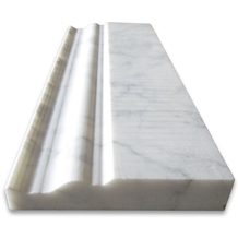 Carrara White 4x12 Baseboard Crown Molding Honed