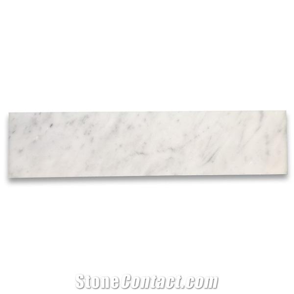 Carrara White Marble 3x12 Subway Mosaic Tile Honed From