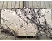 Milas Lilac White Marble Slabs Floor Covering