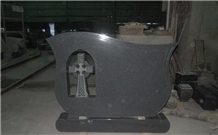 Nanjing Impala Black Granite Headstone for Ireland