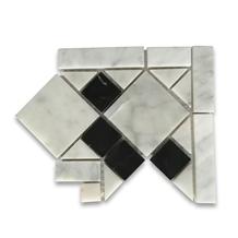 Venice Monochrome 4.8x4.8 Marble Border Corner