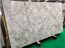 White Bianco Eclipsia Marble Slabs Bathroom Tiles
