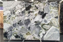 China Ice Green Decoration Marble Slab for Design