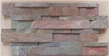 Copper Slate Ledger Stone Wall Panels