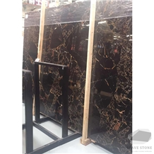 Fantasy Black Gold Flower Marble Tiles and Slabs