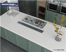 Quartz Countertop Vicostone Bq850 Crystal Ivory