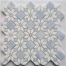 Blue White Marble Mosaic