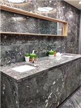 Romantic Grey Marble Vanity Top