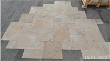 Classic Travertine Tumbled French Pattern