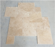 Tumbled Travertine French Pattern Set