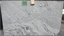 Viscont White Wavy Granite Slabs, India White Granite