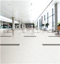 Carrara White Aggregate Terrazzo Tiles Hwn601