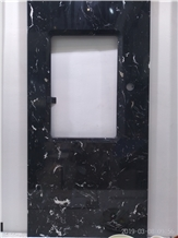 Vanity Top, Bathroom, Black Engineered Marble