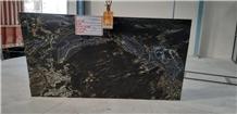Titanium Granite Slabs, India Black Granite