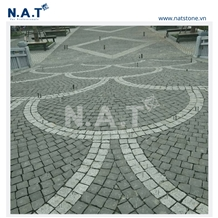 Vietnam Black Basalt Patio Paving Stone Outdoor
