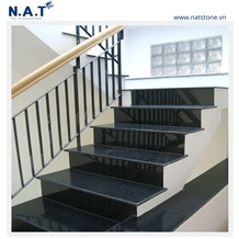 Vietnam Black Rock Granite Polished Stairs and Steps