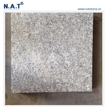Vietnam Forest White Granite Slabs Tiles Flamed