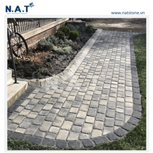 Vietnam Grey Granite Cubes Stone Paving
