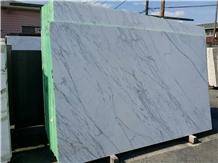 Bianco Carrara Marble Slab, Bathroom Wall