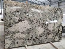 Bianco Typhoon Granite Tile, Luxury Kitchen Slab