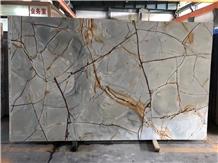 Crystal Imperiale Quartzite Slab - Brazil Luxury Stone for Kitchen