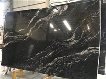 Matrix Titanium Granite Slab/ Golden River Viper