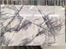 Milas Lilac Dark Marble Slab Glossy Polished Tile