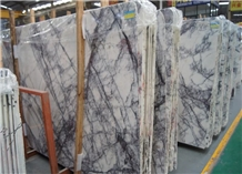 Milas Lilac Medium Marble Slab in Shuitou Factory