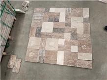 Persian Travertine Split Brick Cube Stone Pavers