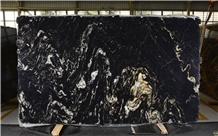 Titanium Granite Slabs, Brazil Black Granite