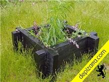 Negro Bierzo Slate Garden Planters