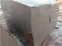 Indipure Red Granite Blocks, Ruby Red Granite Block