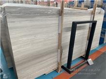 White Wooden Vein Stock Slabs 18mm