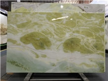 A Grade Fantasy Dream Sky Green Marble Slab / Tile