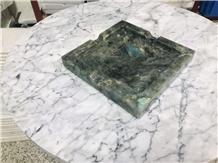Labradorite Green Granite Hotel Ashtray