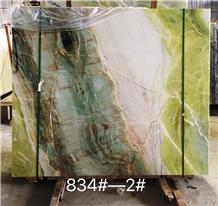 Paradise Jade Marble Slab / Fantasy Green Wall Background Cladding Stone