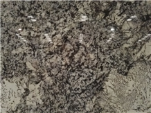 Alaska White Granite Polished Kitchen Slab Design