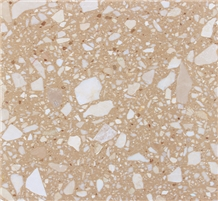 Beige Artificial Stone Tile Bathroom Floor Wall