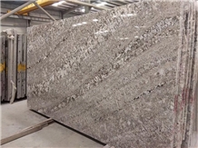 Bianco Antico Granite Slab, Silver Galaxy Grey High Glossy