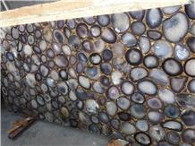 Brazil Lilac Natural Semiprecious Agate Stone Slab