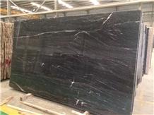 Brazil Ocean Black Granite Slab for Kitchen Top