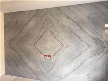 Bruce Grey Marble Slab / Wall Tile Bookmatched