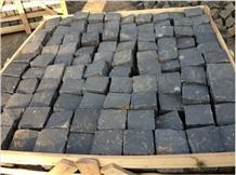 China Black Basalt Split Face Cube Stone Pavers
