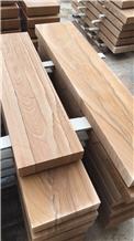 China Rainbow Sandstone Deck Stair / Block Steps / Threshold